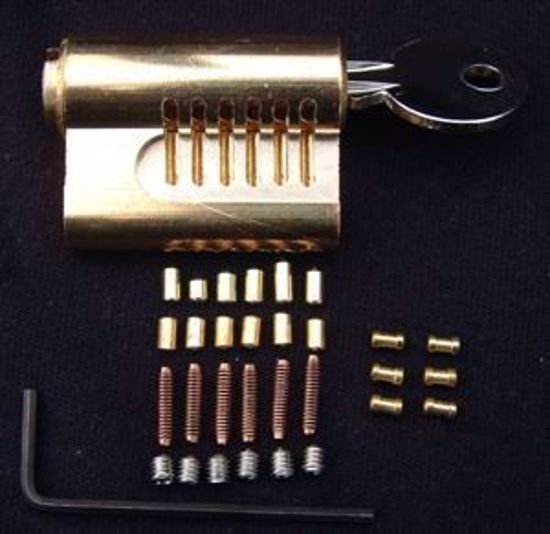 Picture of Cutaway Re-pinnable Euro Lock with 6 Extra Pins
